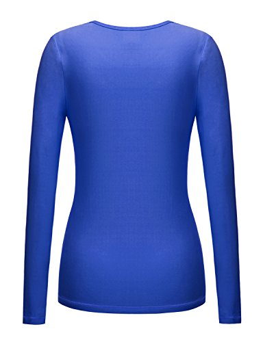 Regna X Re Order Bother Women's Long Sleeve Stretchy Thumb Holes Active Top (S 3X, Plus Sizes)