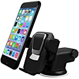 All Cart Car Phone Mount, Washable Strong Sticky Gel Pad with adjustable Design Dashboard Car Windshield Phone Holder for iPhone 8/8Plus/7/7Plus/6s/6Plus/5S, Galaxy S5/S6/S7/S8, Google Nexus, LG, Huaw
