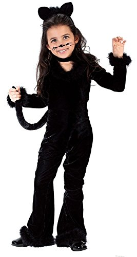 Girls' Black Cat Jumpsuit Costume (Playful Kitty Child Costume - Small)