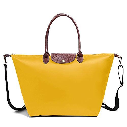BEKILOLE Women Fashion Waterproof Tote Bag Nylon Shoulder Be