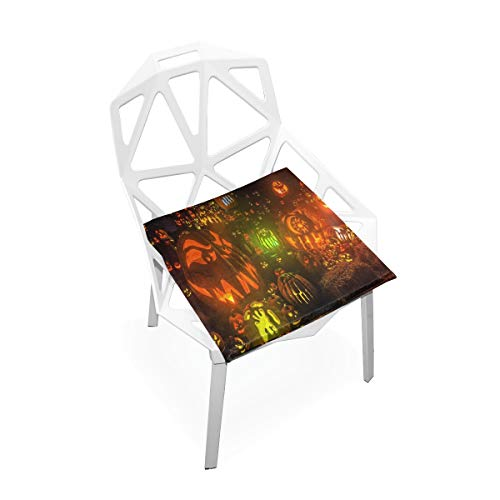 Pingshoes Seat Cushion HD Halloween Background Chair Cushion Offices Butt Chair Pads Square Car Mat for Computer