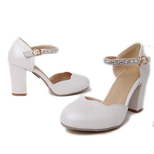 Balamasa Kvinna Glas Diamant Fasta Mjuk Material Pumpar-shoes Vita