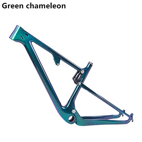 BXT New Shock Full Suspension Mountain Bike Frame 29er Rear spacing 142 12mm Travel 100mm Mountain Bike Frame Brand (Glossy, L) ()