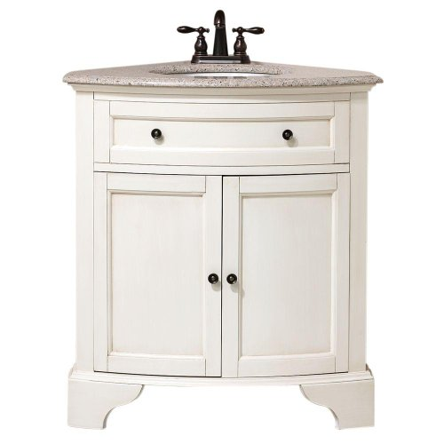 "Home Decorators Collection Hamilton Corner Bath Vanity, 35"" Hx31 Wx23 D, Ivory"