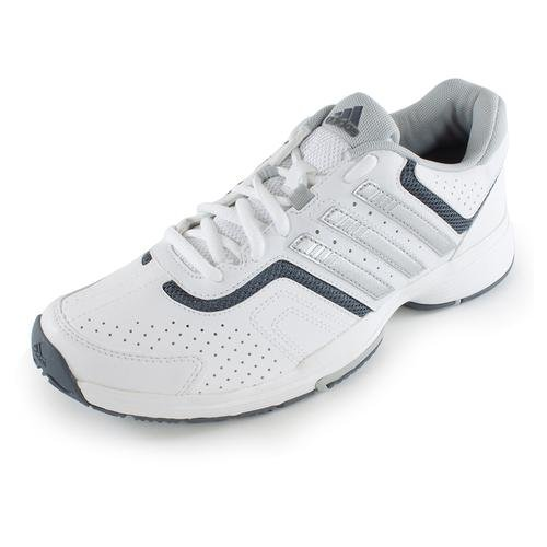 adidas Performance Women's Barricade Court W Tennis Shoe, White/Grey/Clear Grey, 6.5 M US