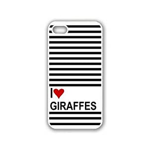Love Heart Giraffes White iPhone 5 & 5S Case - Fits iPhone 5 & 5S