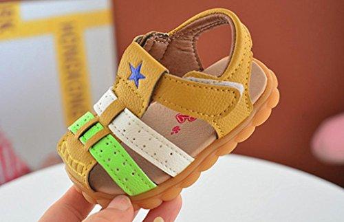 Huhu833 Baby Schuhe, Baby Jungen Mode Patchwork Sneaker Star Print Kinder Casual Sandalen Schuhe Gelb