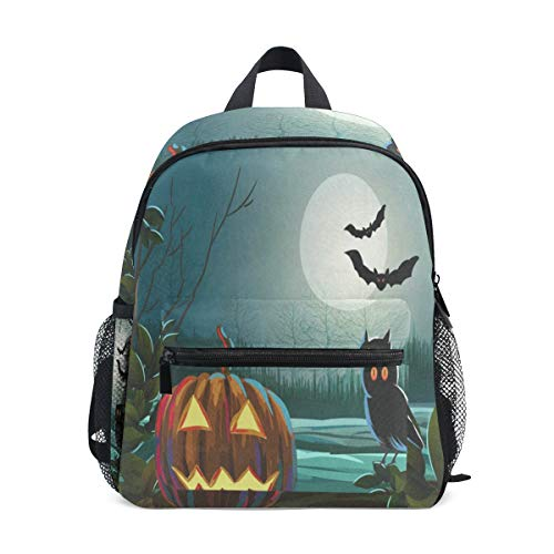 Spooky Halloween With Pumpkin And Owl School Backpack for Girls Kids Kindergarten School Bags Child Bookbag -
