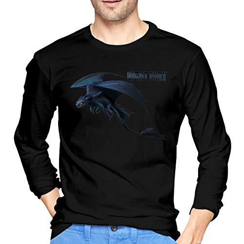 AlbertJ Mens How to Train Your Dragon Long Sleeve T Shirts Black M ()