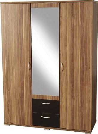 Seconique Hollywood 3 Türen 2 Schubladen verspiegelt Kleiderschrank ...