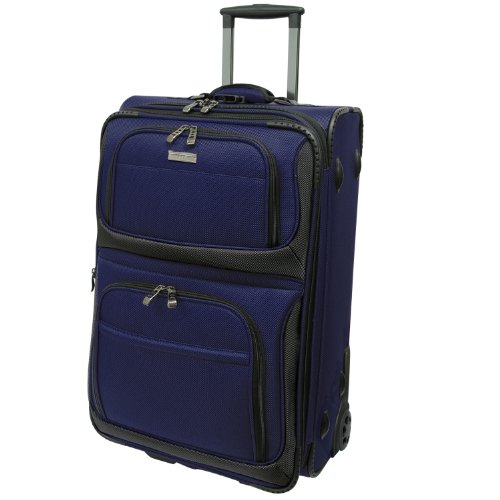 travelers-choice-conventional-ii-lightweight-expandable-rugged-rollaboard-rolling-luggage-navy-22-in