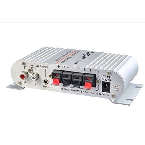 DDLBiz(TM) Mini Hi-Fi Audio Stereo Amplifier 12V 20W X2 RMS Amp For Home Car Silver by DDLBiz (Image #1)'