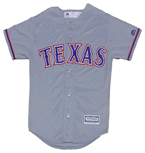 Outerstuff Texas Rangers Blank Gray Youth Cool Base Road Jersey (Medium 10/12)