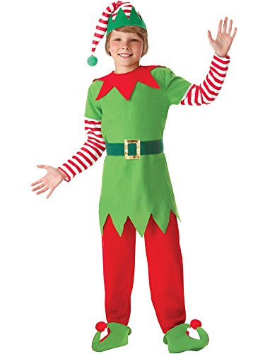 [Boys Santa's Helper Elf Costume 12-14] (Childrens Santas Helper Costume)