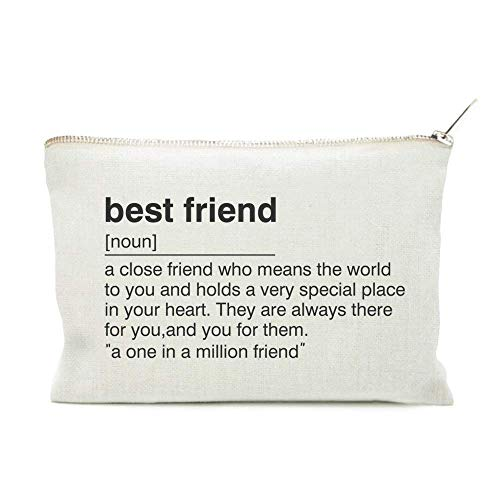 Best Friend Birthday Gift, Best Friend Toiletry Bag, Best Friend Gift Bag,  Friend Definition Quote, Cosmetic Bag, Makeup Case, Best Friend Gift
