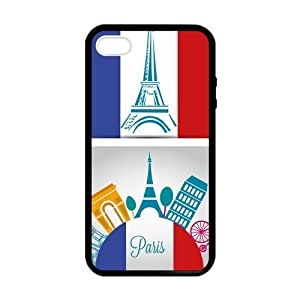 SUUER Custom Eiffel Tower Personalized Custom Hard Case for iPhone 4 4s Durable Case Cover