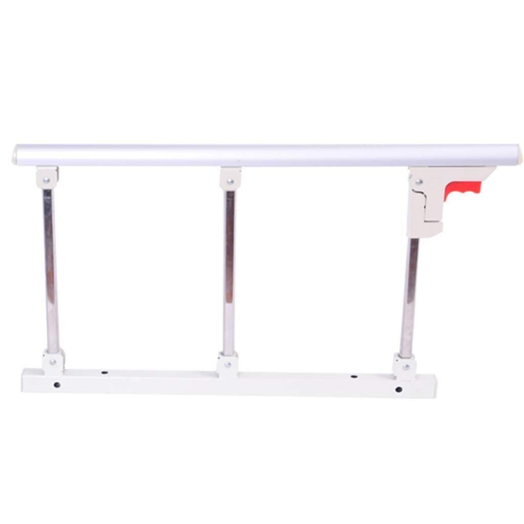 MUMA 折り畳み式ベッドレール安全サイドガード用高齢者、ハンドルハンドルハンディキャップベッド手すり病院メタルグリップバンパーバー (Color : White)  White B07THHZK32