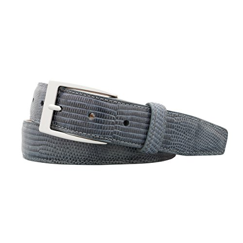 Genuine Lizard Belt - Grey - 44