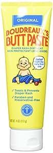 Boudreaux's Boudreaux's Butt Paste, Diaper Rash Ointment, Tube 4 oz (Quantity of 3)