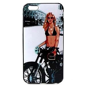 GX chica con la cubierta trasera del caso para el iphone pandapattern 6 más