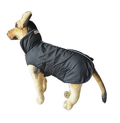 Black XS Black XS Texay(TM) dog clothes XS-4XL windproof dog raincoat four color large dog clothes puppy clothes unequal size
