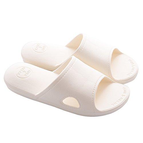 Mianshe 北欧 超軽量 サンダル スリッパ 抗菌衛生 歩きやすい 滑り止め 来客用 男女兼用 アイボリー M