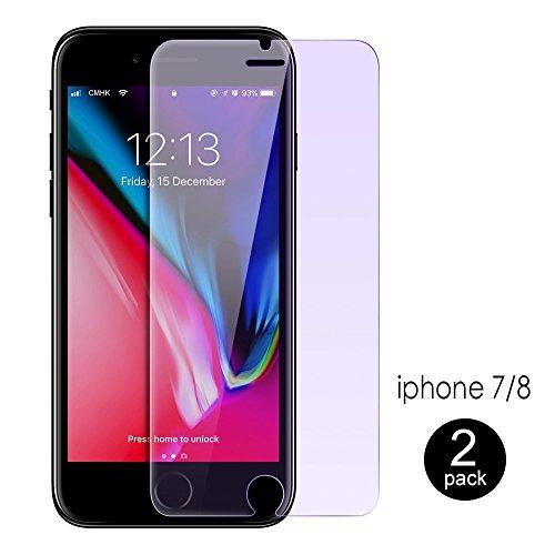 平等伴う終わりiphone 8 ブルーライトカット ガラス フィルム iPhone7 ガラス フィルム iPhone 8 / iPhone 7 / 6s / 6 液晶保護フィルム強化ガラスフイルム 【2枚セット】 超薄型 3D Touch対応/飛散防止/指紋防止/最强硬度9H /透過率99% 気泡ゼロ 貼付け簡単