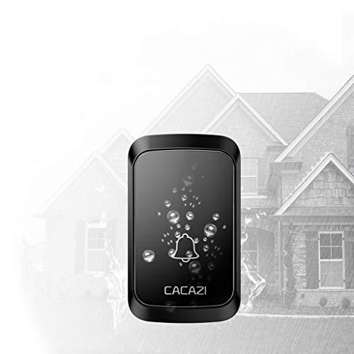 Yu2d  Home Wireless Intelligent Doorbell LED Night Light 300M Remote Waterproof -