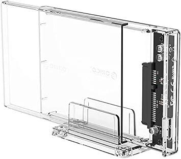 ORICO de Caja de Disco Duro Externo Transparente de 2,5 , USB 3.0 a SATA 3.0 5Gb / s, para HDD de PC de Escritorio SATA 2.5