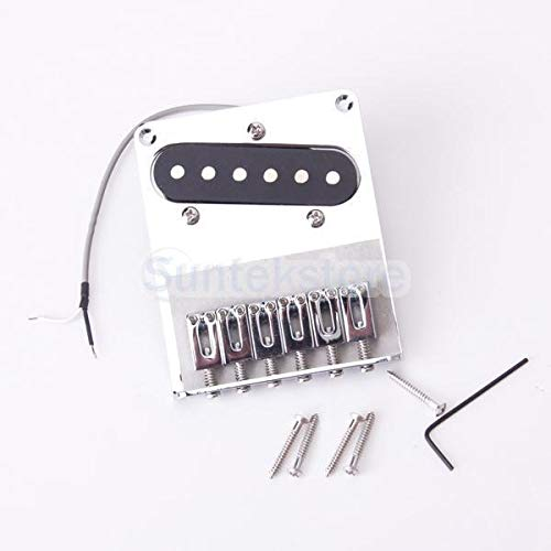 Chrome 6 Saddle Bridge and Pickup for Buckler Telecaster Guitar (Best Telecaster Pickups For Country)