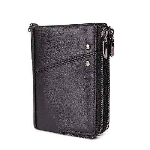 magnetico Rfid Per Multi Perfetto Anti Uomini Borsa Gli Portafoglio Brown Regalo Black card Da Uomo In color Pelle wq7YBRI