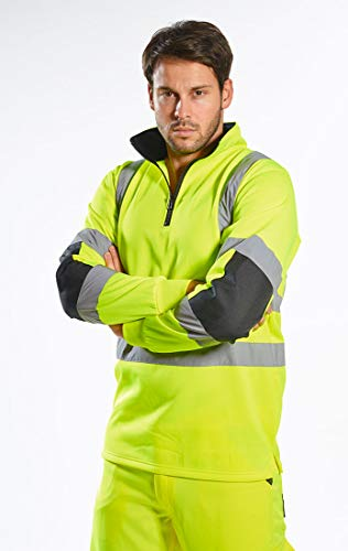 Portwest Xenon Rugby Sweatshirt Pullover Jumper Safety Reflective Work Wear Warm Top ANSI 3, 5XL Yellow by Portwest (Image #2)