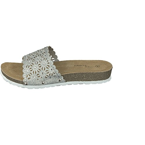 Scarpa Cork Ultra Ladies Look Linea Genua Mules Silverware Lightweight vqwUCA