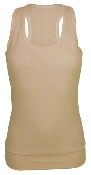 e204d3b171782e Sexy Damen Tank Top Träger T-Shirt Long Shirt Hemd Tunika Trägershirt NEU  ta2 (beige)  Amazon.de  Bekleidung