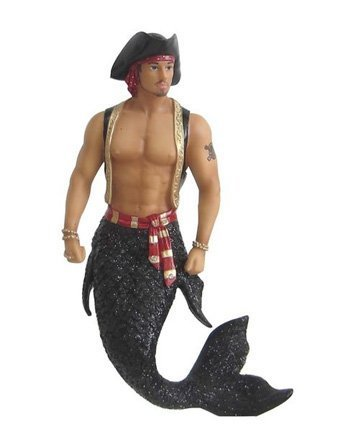 December Diamonds Sebastian the Pirate Merman Ornament