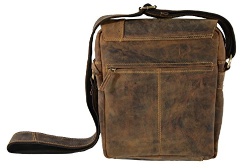 brown cm pelle a 17 tracolla Vintage Greenburry Marrone borsa x0wCq7q6