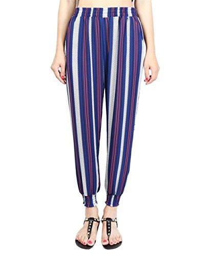 Large Colour De Loisirs Hippie Sarouel Taille Haute Pantalon Pluderhose Fashion Elégante Élastique Casual Dame 7 Ete Imprimé Battercake Femme Vintage Modèle wFHgZ