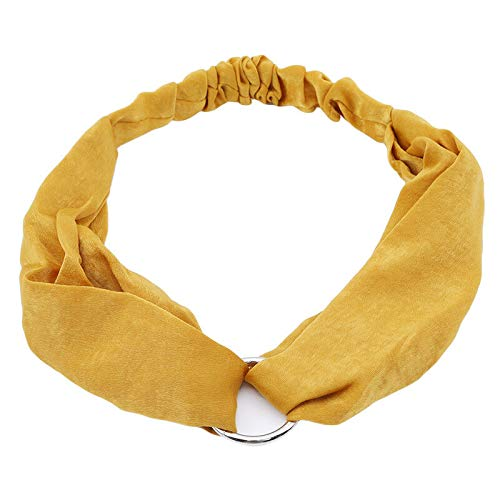 Fashion Women Turban Twist Knot Head Wrap Headband Twisted Knotted Hair Band (Color - Yellow)