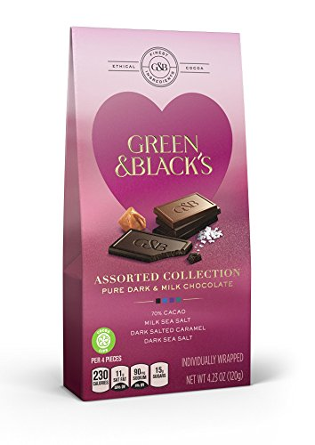 Green & Black's Valentine's Day Assorted Chocolate Candy, 8 Count