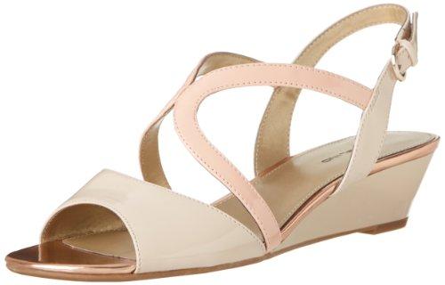 Bandolino Kvinna Grayson Syntetisk Kil Sandal Naturlig / Rosa