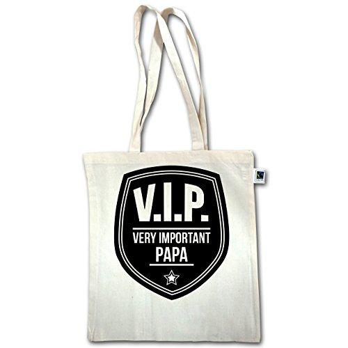 Vatertag - V.I.P. - Very important Papa - Unisize - Natural - XT600 - Jutebeutel lange Henkel nWwHsBZx