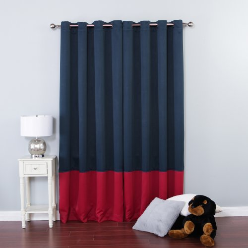 best home fashion colorblock thermal insulated blackout curtains antique bronze grommet top. Black Bedroom Furniture Sets. Home Design Ideas
