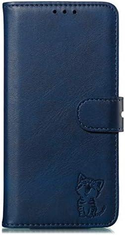 Docrax Motorola Moto G6 Plus ケース 手帳型 スタンド機能 財布型 カードポケット マグネット モトローラG6Plus 手帳型ケース レザーケース カバー - DOXLI010517 青