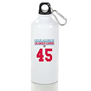 LINNA- Los Angeles #45 Basketball Player Personalized Sports Water Bottle With Carabiner Hook