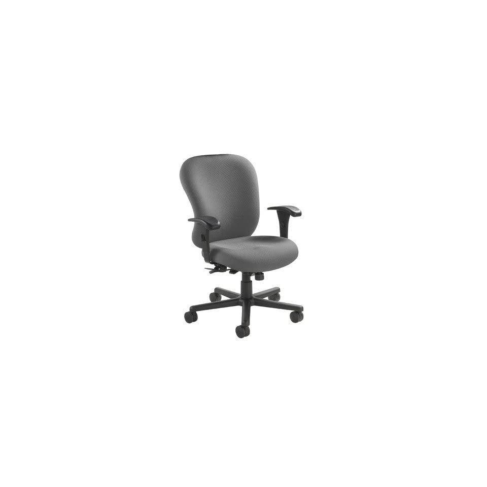 Mid Back 24/7 Heavy Duty Task Chair Fabric Foundation charcoal