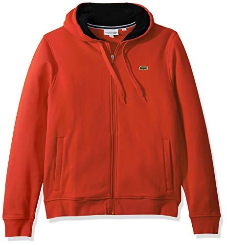 Lacoste Mens Sport Long Sleeve Fleece Full Zip Hoodie Sweatshirt