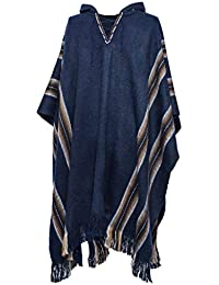Mens Poncho Comfortable Clothes for Men House Coat Pancho Alpaca Hooded Poncho