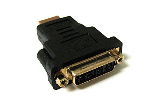 FYL NEW HDMI MALE TO DVI-I DUAL LINK FEMALE HDTV PLASMA BLACK ADAPTER ()