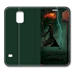Death Does Standing Leather Smart Cover Case Exclusive For Samsung Galaxy S5 Screen