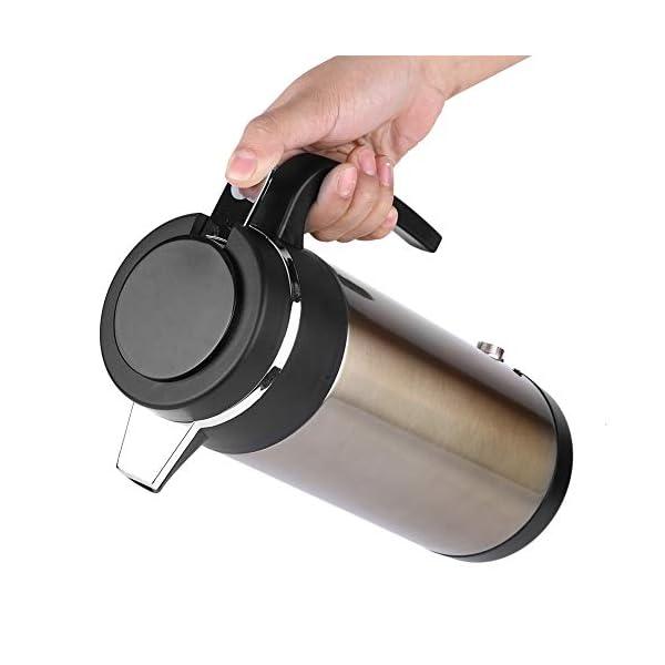 41P03H9hgtL Wasserkocher 1200ML 12 V / 24 V Edelstahl Elektrische In auto Wasserkocher Reise Thermoskanne Heizung Wasserflasche…